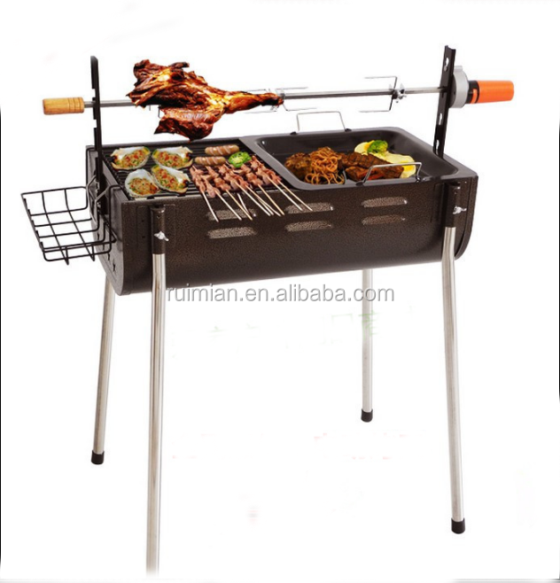 Height Adjustable Stainless Steel Outdoor Portable Charcoal bbq Grill