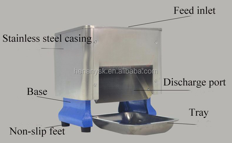 Table Top Stainless Steel Commercial Electric Vegetable Meat Slicer Slicing Machine