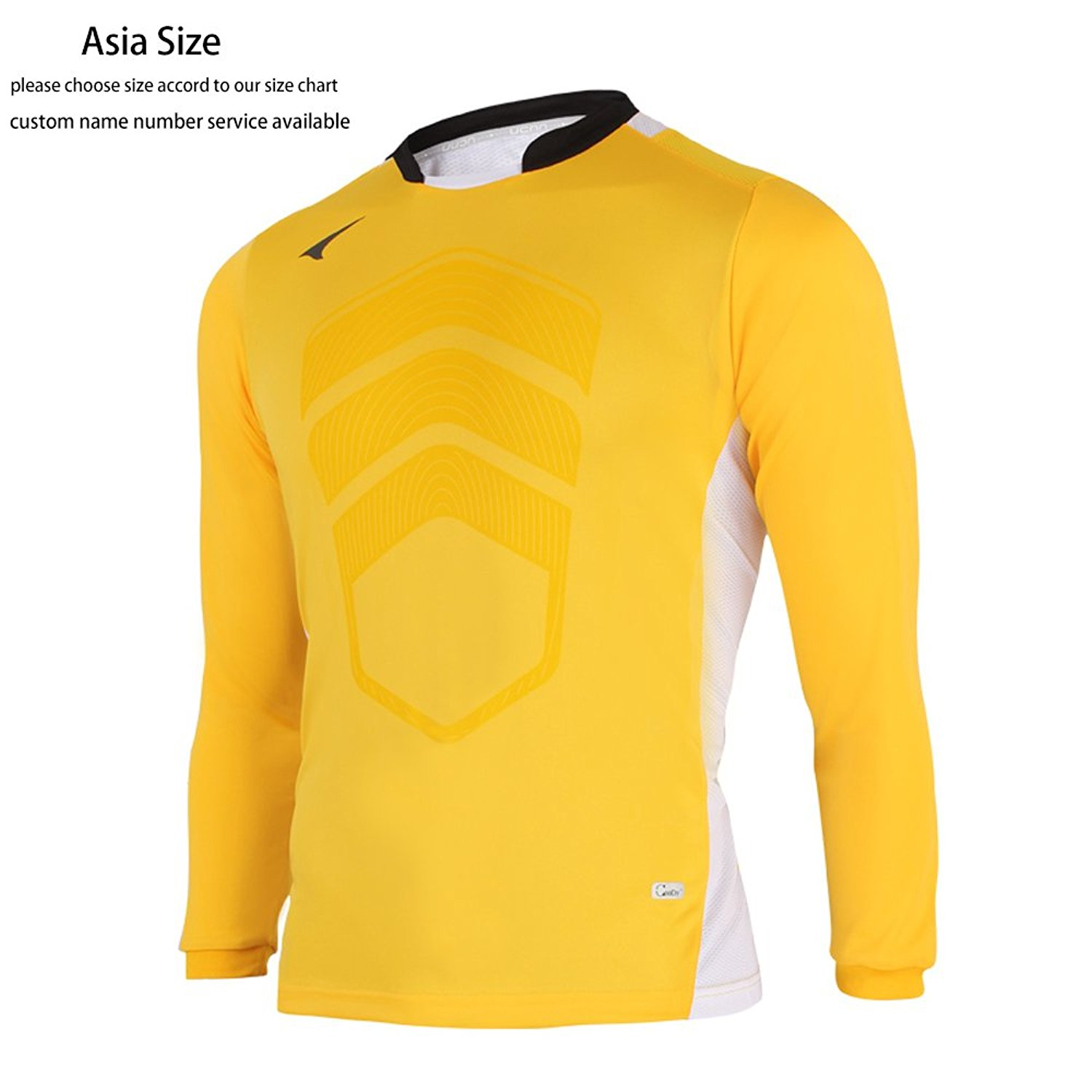 2f9977bf333 Get Quotations · Ucan Soccer Goalkeeper Jersey Padded Goalie Jersey Youth  and Men K05130