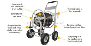 Hose Reel Cart Parts Hose Reel Cart With Wheels Metal Garden Hose