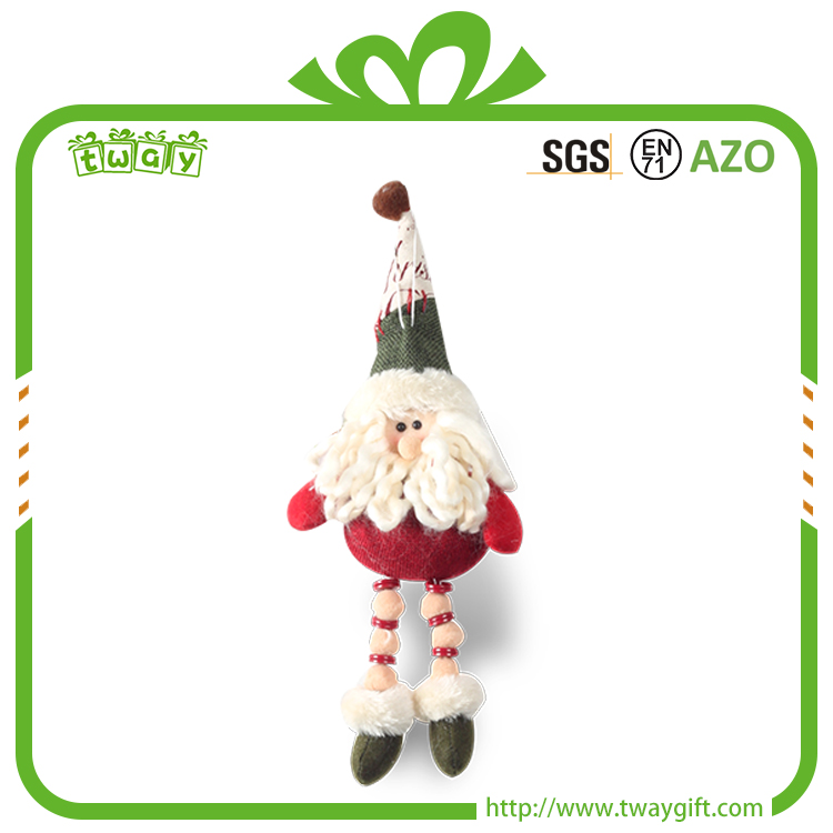 "9"" Eco-friendly safe unique gift colorful christmas mini plush soft toy snowman craft santa doll manufacturer"