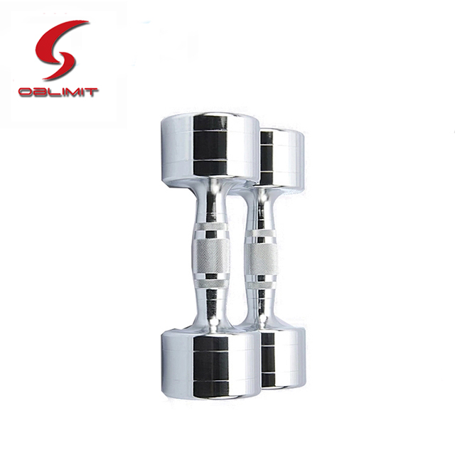 Durable Electroplating Stainless Steel Chrome Round Dumbbell