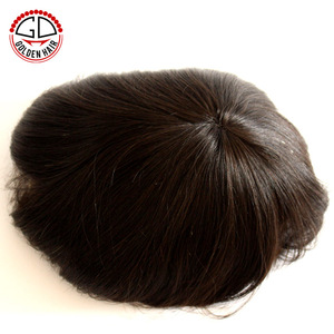 Best Selling Full Lace Invisible Thin Skin 100% Real Natural Human Hair Toupee