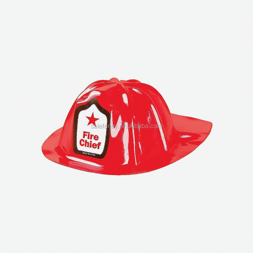 Nice good quality most popular red plastic fireman hat cover toy helmet for  kids cheap sale QHAT-8588 6e3f7d579e6