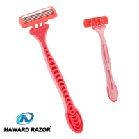 D316L pink safety handle stainless steel blade lady shaving razor
