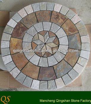 Tile Floor Medallions Round Mosaic Medallion