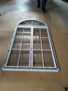 plastic grids for pvc arch windows,arch design fix window