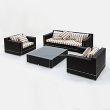 good design outdoor sofa with black wicker