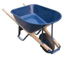 Westward 10G166 Wheelbarrow, Steel Tray Gauge 18