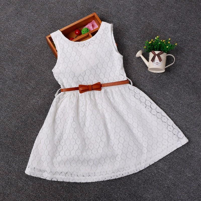 eef127383 2-8 años regalo de verano Chaleco de encaje vestido de las niñas vestido de