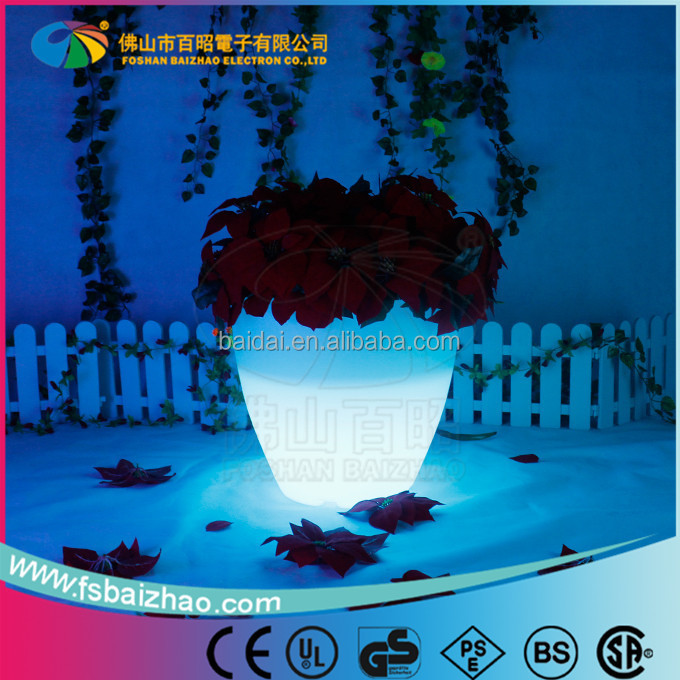 flower led flower lights rotational moulding rechargeable lighting plastic LED flower pot