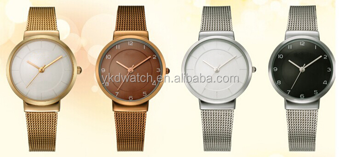 Japan Movt Quartz Watch With Stainless Steel Back