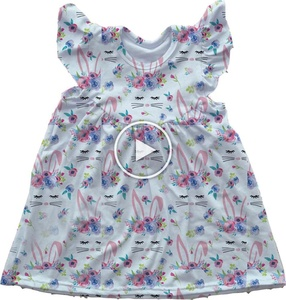 easter bunny pearl dress floral dress wholesale children clothing