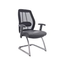 Adjustable nylon arms with pu pad modern mesh office chairs no wheels