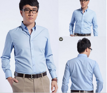 95380304eb8b pictures of formal shirts men solid color dress shirt italian fabric korea  style contrast colour business