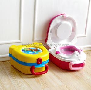 plastic school bag shaped portable baby travel potty training seat child toilet seat children potty with cover