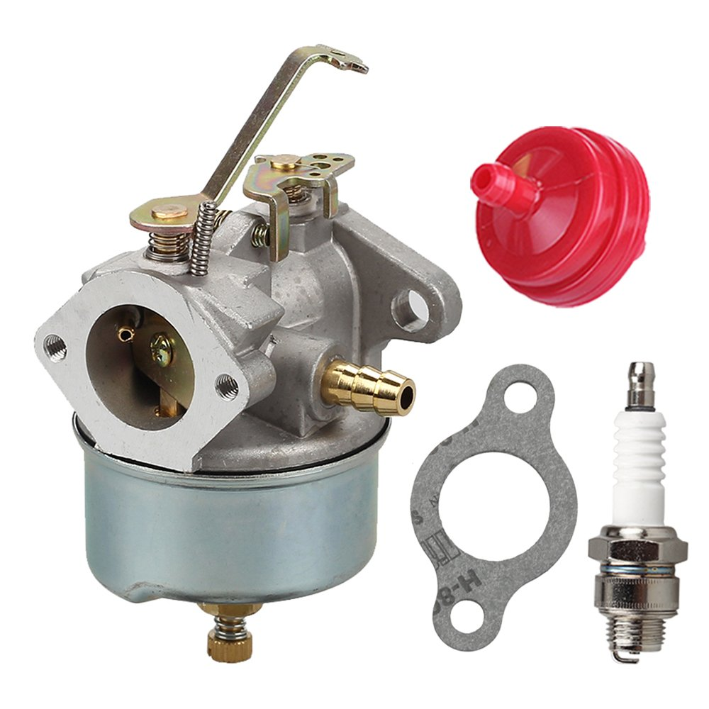 Get Quotations · 632230 632272 Carburetor with Spark Plug Fuel Filter for Tecumseh  5 HP 6 HP 631828 631067