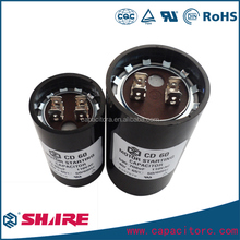 cd60 250v motor starting capacitor 180uf 450v electrolytic capacitor