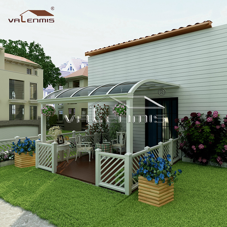 Wall mounted aluminum awnings prefab awnings canopies for sale