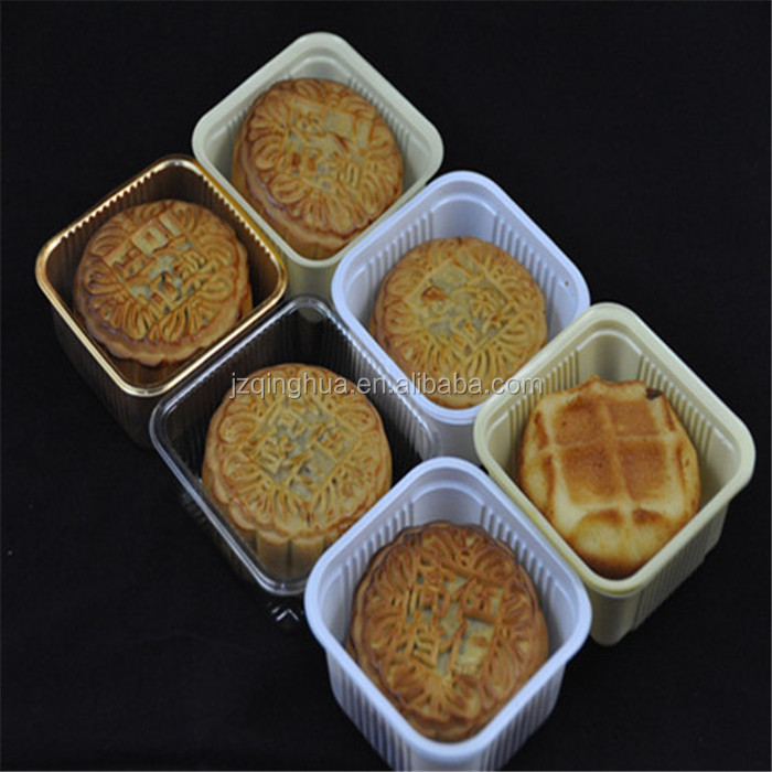 All kinds of cheap price PP & HIPS & PET & PVC plastic material Moon cake tary type for wholesale