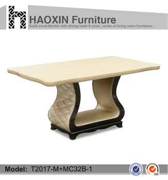Luxury Dining Table Leather Wood Base Marble Dining Table View Acrylic Dining Table Base Haoxin Furniture Product Details From Foshan Haoxin Furniture Co Ltd On Alibaba Com