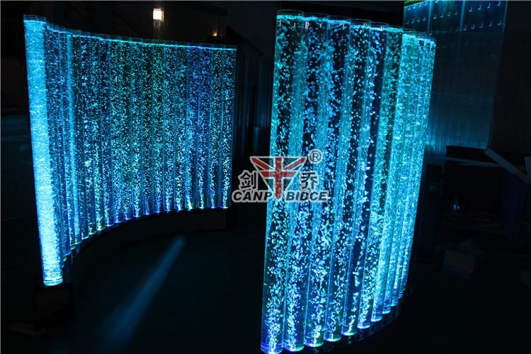 Aliababa Led Acrylic Aquarium Water Bubble Walls Crystal Column ...