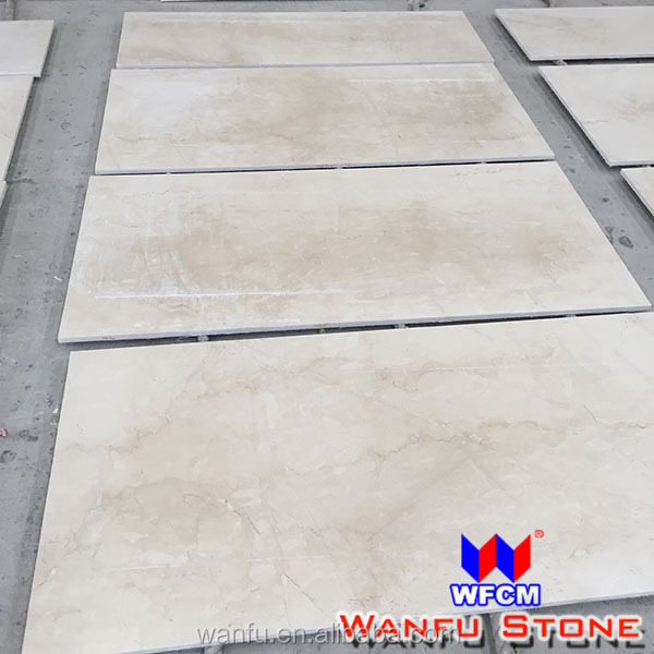 High gloss floor tile new ivory cream marble price per square meter