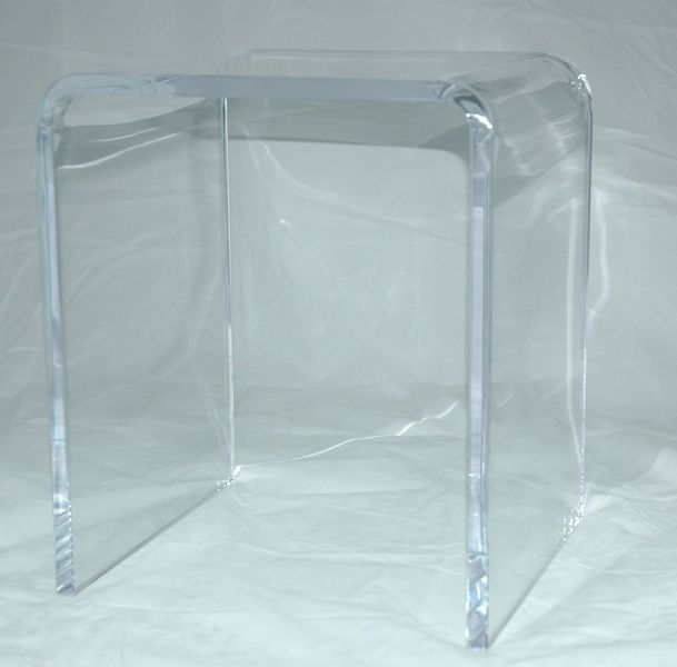 Plexiglass shower bench