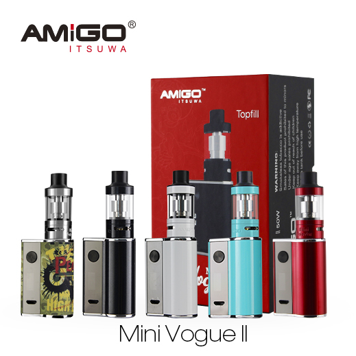 2016 Mini Vogue 50w 2 kit vv 50w premium e cigarette amigo vape