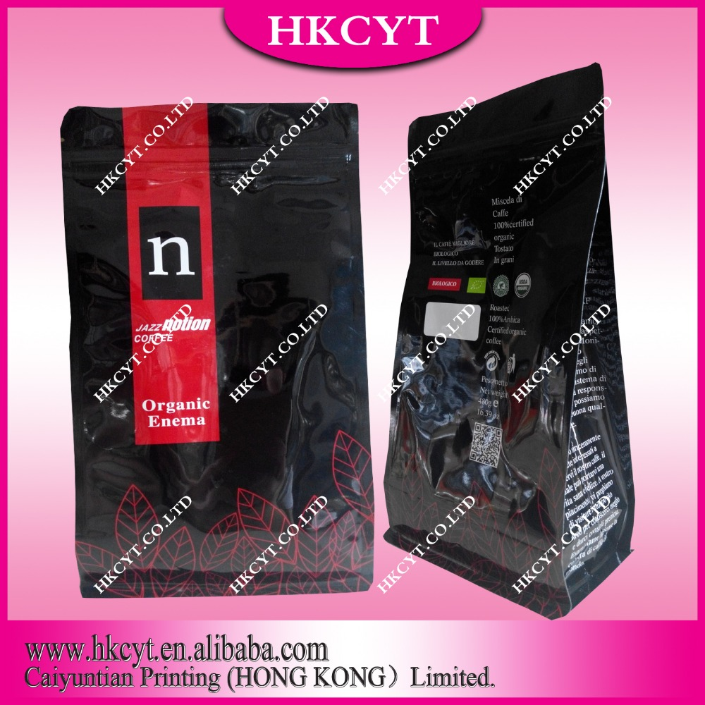 High Quality Flat Bottom Paper Food Package Bag For Tea & Coffee