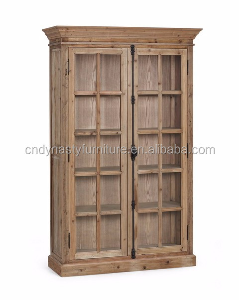 Living Room Antique Bookcase With Gl