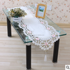 Polyester White/Cream Lace Various Sizes Table Cloth