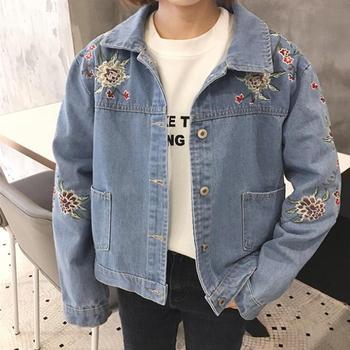 Sh10277a Korean Style Bulk Wholesale Jacket Embroidered Flowers