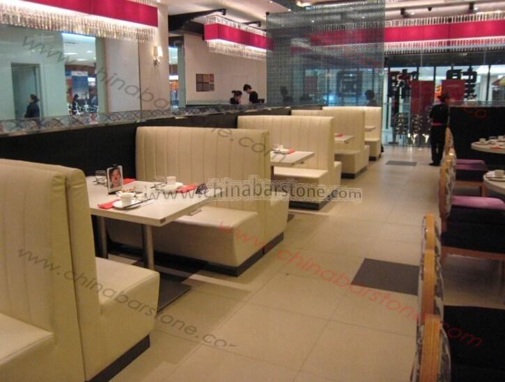 Custom design high back seats leather restaurant booth