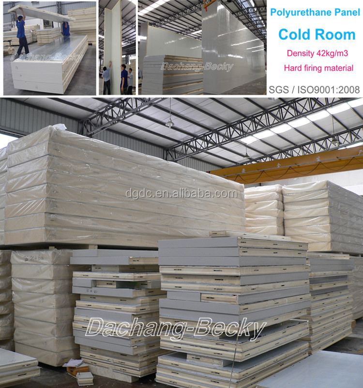 Walk in freezer insulation pu wall panel roof panel floor for Cold floor insulation
