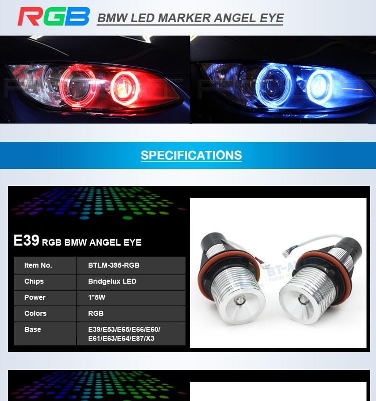 China Gold Supplier Rgb Led Angel Eyes Colors E90 E91 E92 E93 H8 ...