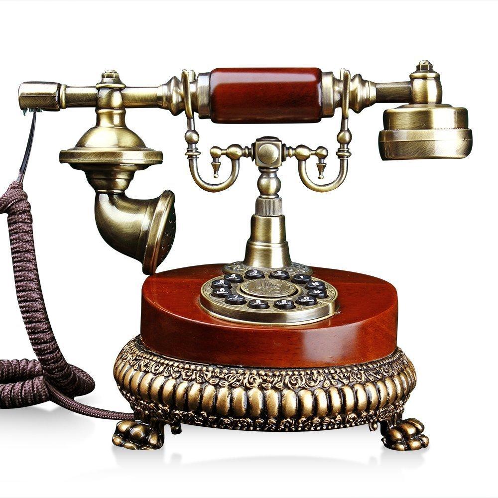 XINHAOK Antique wood antique landline telephone landline Villa European style retro office supplies