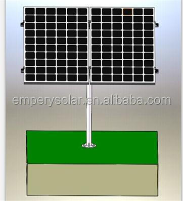 PV pole mounting Rack for 2 panels