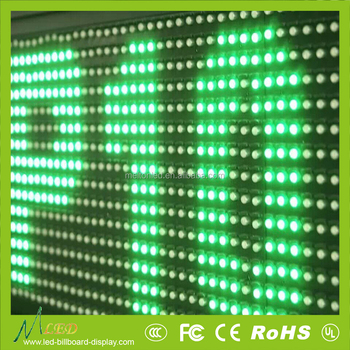 P10 single mono color led screen module 220v for outdoor useage