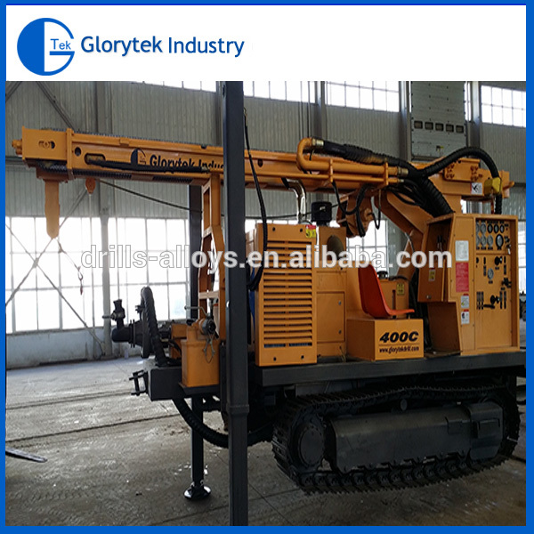 crawler hydraulic rotary drilling rig 400C drilling water wells
