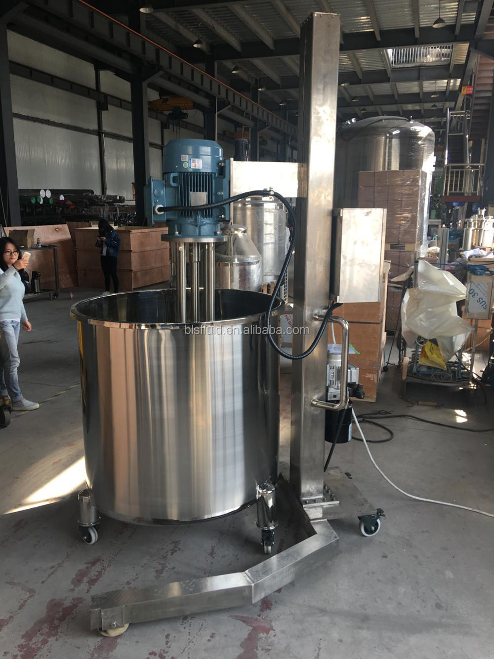 Food grade stainless steel high shear mixer for ice cream
