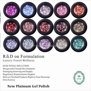 2016 news nail products New platinum/metallic Gel Polish,soak off gel polish