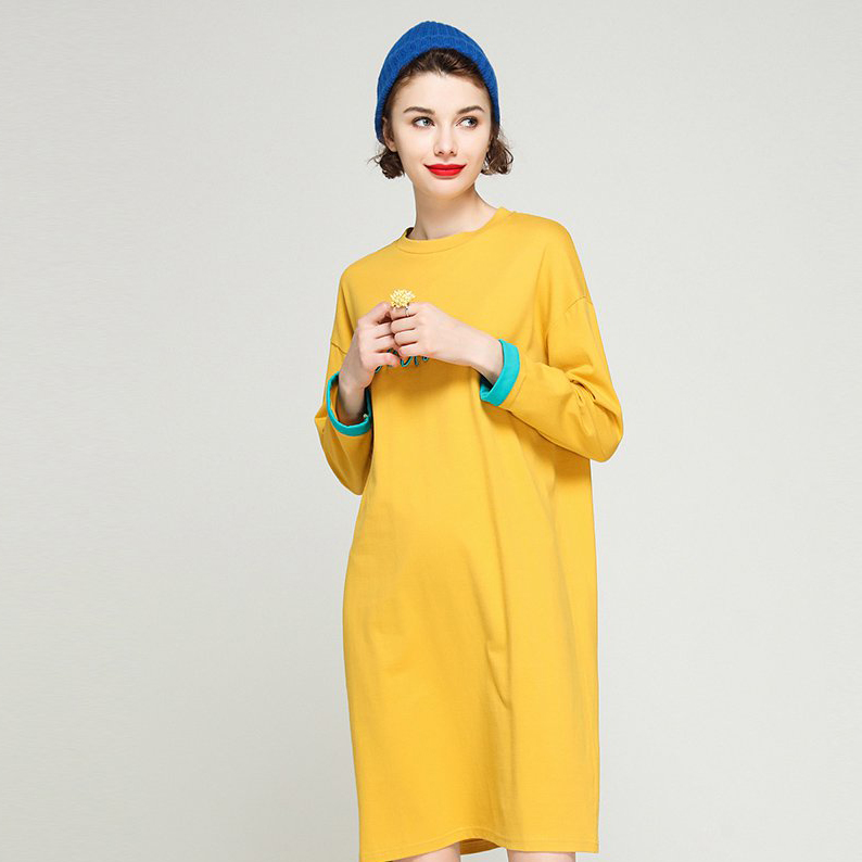 Oversized Pullover Hoodie Dress Korean Style Hoodie Bulk Woman Hoodies Dress