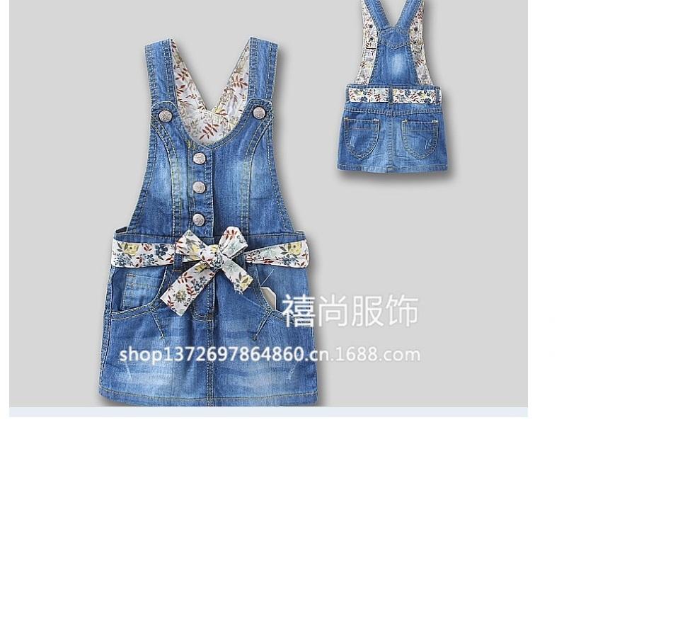 31c91471cd 1-6 yrs Girls Overall Dress 2015 summer baby Denim Blue jumpsuits for kids  Denim