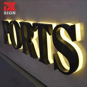 DK SIGN offer business stainless steel led backlit letters metal sign shopping signage board for sale