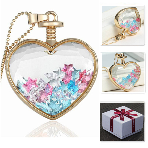 Cheap boutique necklaces find boutique necklaces deals on line at get quotations heart boutique dry floral necklace wish bottle pendant necklaces charms spirit little star inside lucky gift aloadofball Image collections