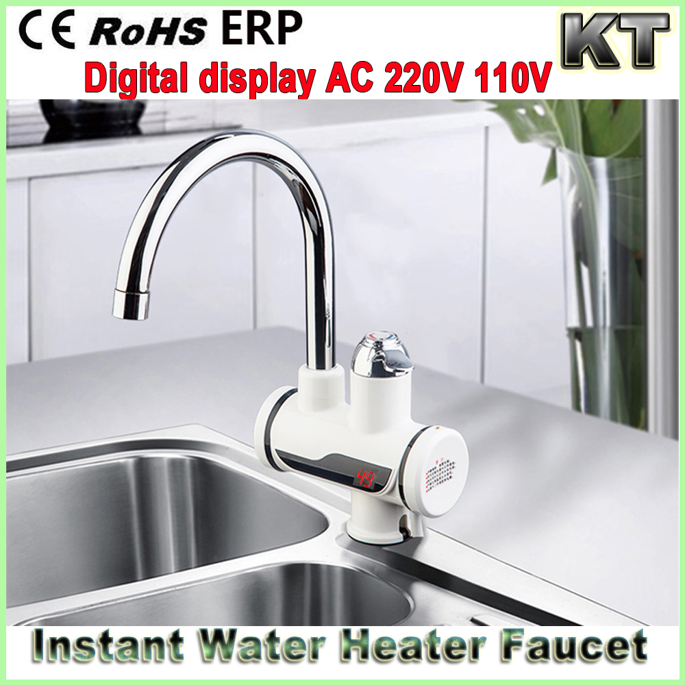 CE ERP approved Kitchen Digital Display Instant Hot Water Tap Electric Faucet