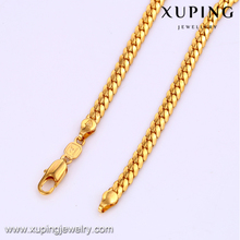 41852 xuping fashionjewels gold filled flat snake necklace chain