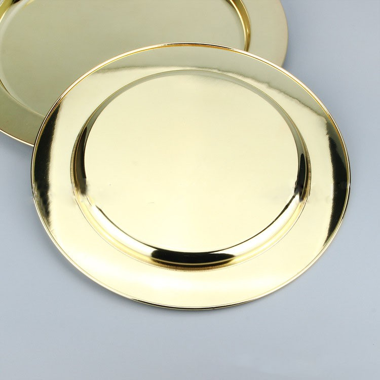 hotel&restaurant plain Mirror Round Stainless Steel buffe <strong>plates</strong>