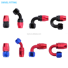Car Tuning Oil Fuel Hose Swivel Push-lock Enforced PTFE AN Fitting